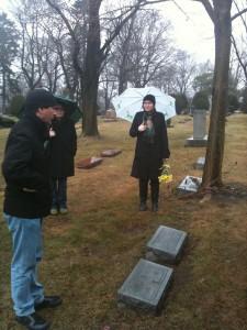 Vandercook's grave