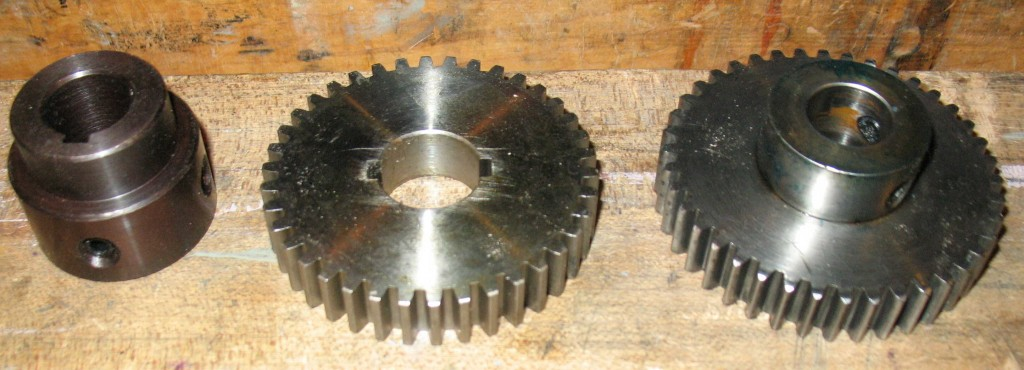 Hub and Change gear as purchased, and original 4-tooth gear