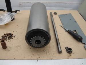 Uni 1 inking drum wood bearing shaft colars